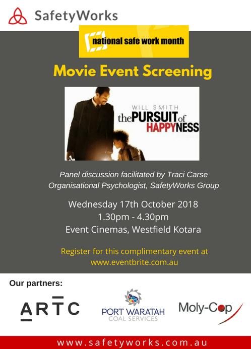 National Safe Work Month Movie Event 2018 - image